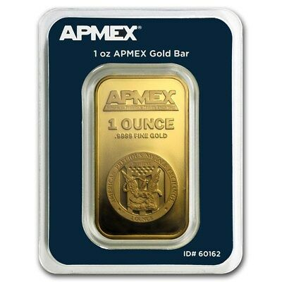 1 oz Gold Bar APMEX (In TEP Package)  - SKU #90600