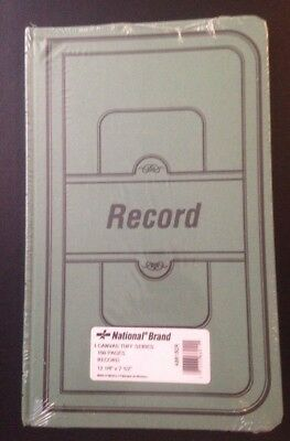 """National Brand Record Book New Still Sealed 150pp Canvas Tuff Series 12x7.5"""""""