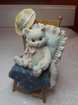 1992 Enesco CALICO KITTENS  Waiting for a Friend