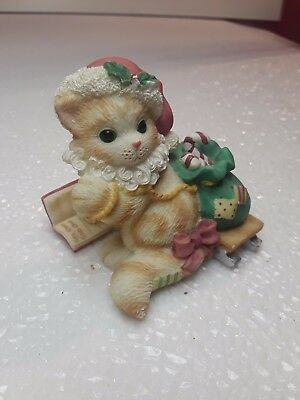 1999 Enesco CALICO KITTENS  Here Comes Santa Claus