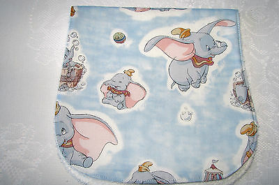 Blue Classic Dumbo Burp Cloth Handmade