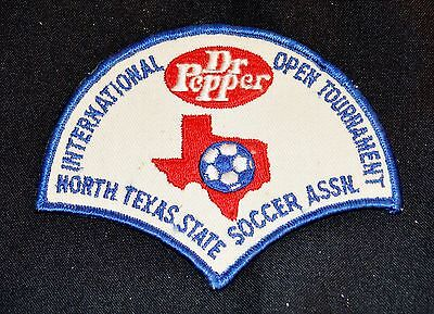 Vintage Embroidered Dr Pepper Patch North Texas State Soccer Open Tournament