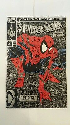 Spider-Man #1 and 2 Lot (Aug 1990, Marvel) Silver Cover Todd McFarlane Art