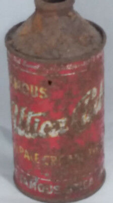 Empty Vintage Utica Club Pale Cream Ale cone-top can, West Bend Brewing Co