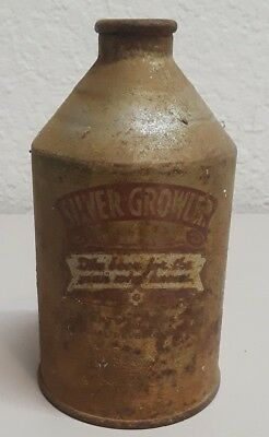 Gluek  Beer  Silver  Growler   Solid Irtp    Cone Top
