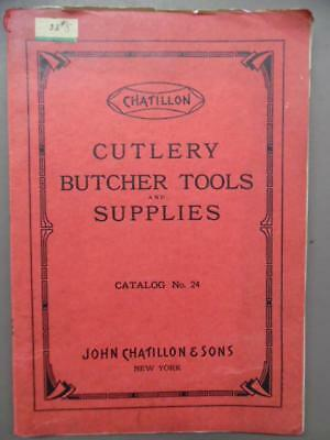 1925 John Chatillon & Sons Cutlery Butcher Tools Catalog Cleaver Knife Vintage