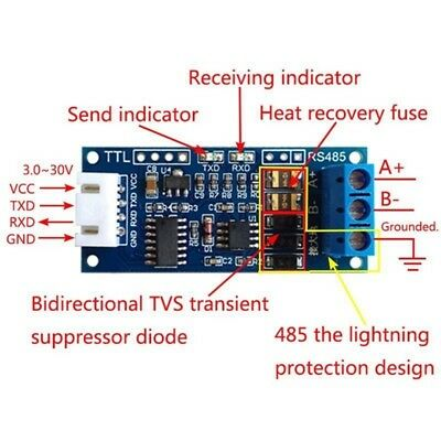 SIGNAL TTL TO RS485 Adapter 485 Serial Port UART Level