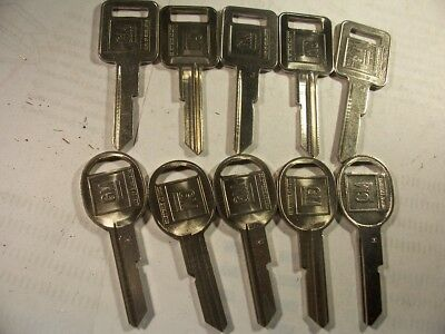6 Sets  Gm  Nos Genuine   J & K   Briggs & Stratton   Key Blank   Uncut