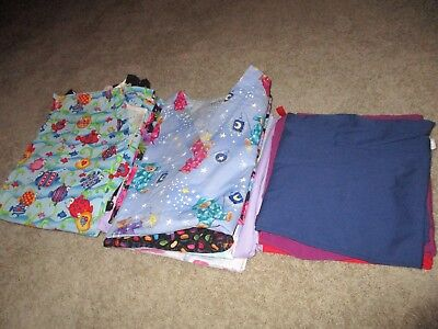 Lot of 17 piece SCRUB TOPS and BOTTOMS, NURSING UNIFORMS Size S