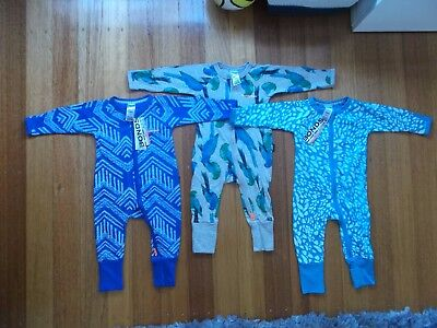 BRAND NEW WITH TAGS! Bonds Baby Zip Wondersuits x3 Size 00 (3-6mths) RRP$74.85