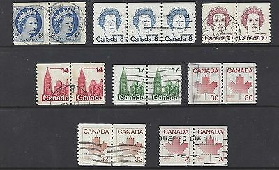 Canada SELECTION OF QEII USED COIL PAIRS (BS4218-1)