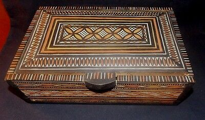 Handmade Folk Art Carved Wood Trinket/jewelry Box! African Made & Designed