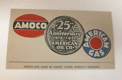 1935 Amoco - American Gas 25th Anniversary INK BLOTTER