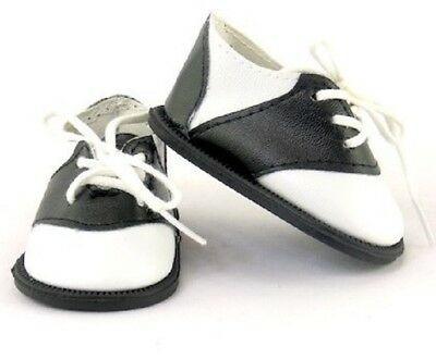 "Black White Saddle Oxfords Shoes for American Girl 15"" 18"" Doll Clothes Lovvbugg"