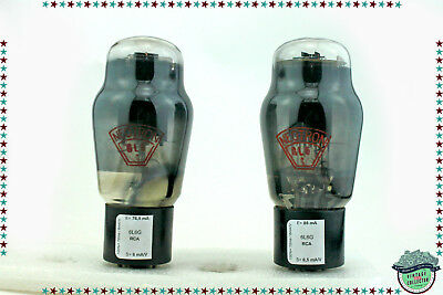 6L6G / 6L6 RCA matched pair Vacuum tube, valve, tested, NOS