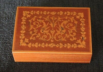 Vintage Wooden Box Inlay? Decoration Dragons Far Eastern? #6