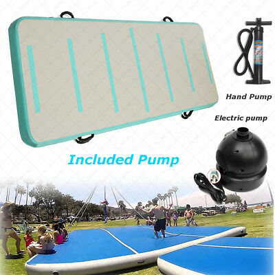 Inflatable Air Track Floor Home Gymnastic Cheerleading Tumbling Mat GYM + Pump