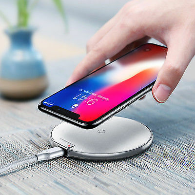 BASEUS Qi Wireless Charger Charging Pad Mat with Cable For iPhone X 10 8/8 Plus