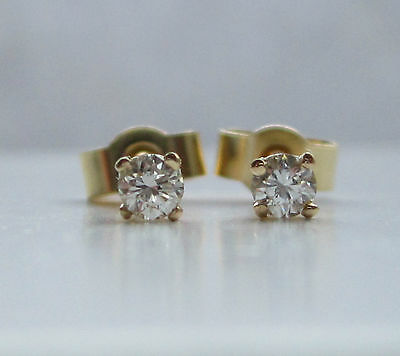Brand New 1/4ct Quarter Carat Diamond 9ct Gold Stud Earrings £100 Freepost