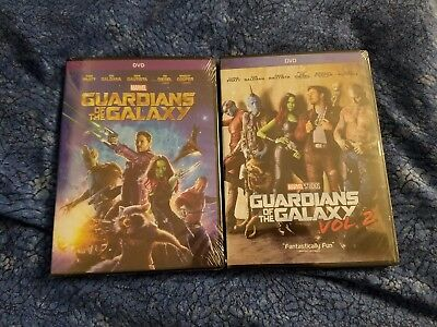 Guardians of the Galaxy 1 & 2 DVD Both Movies Marvel Bundle Brand New