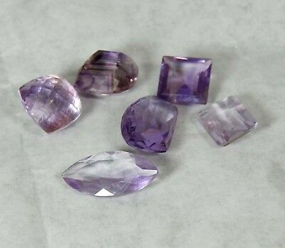 32 CT 6 Pc Lot Natural African Amethyst Mix MM Faceted Cut Loose Gemstone