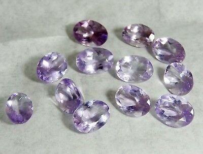 98 CT 12 Pcs Lot Natural African Amethyst Mix MM Faceted Cut Loose Gemstone
