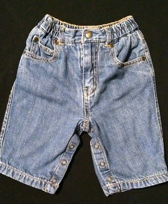 The Childrens Place boys lined denim jeans size 3-6 months EUC