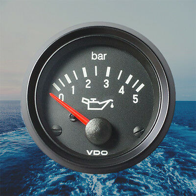 "VDO Cockpit International Engine Oil Pressure Gauge 52mm 2"" 5bar 350-030-003G"