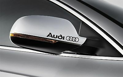 4X AUDI Mirror Decals Stickers Any Colour