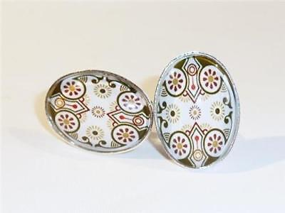 Silver Plated Cufflinks - Gothic Revival - Gift Bag - Free Uk P&p.......w0858