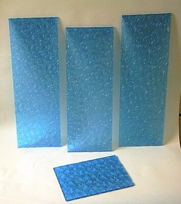 Antique Blue Glass   / Door Panel Reclaimed. Pressed / Crystal / Cut Glass