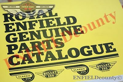 Genuine Royal Enfield Parts Catalogue Illustrated Book Part Manual Book