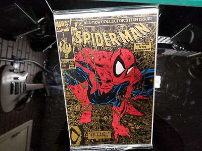 Marvel Comics Spider-Man #1 torment gold variant todd mcfarlane Aug 1990, Marvel