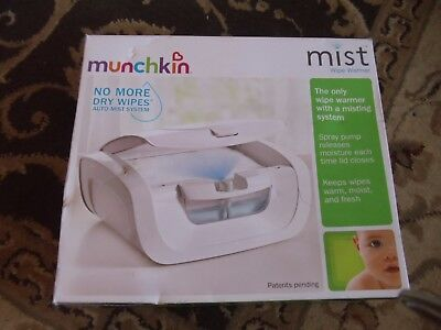 NEW  in Box Munchkin Mist Baby Wipe Warmer Holds 100 Wipes -