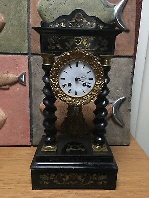 Antique wooden Japy Freres clock