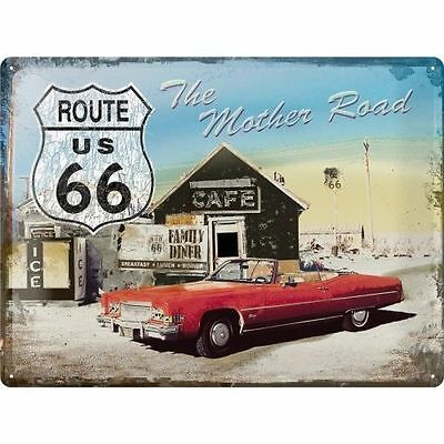 Blechschild 30x40cm Route 66 The Mother Road USA Nostalgic-Art Retro