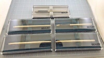 Judd's Lot of 5 Very Nice NEW Old Stock Bexley Continental Rollerball Pens