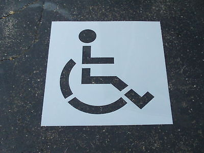 """39"""" Handicap Stencil for Parking Lots Re Usable BIG Edges ADD SIGNATURE DELIVERY"""