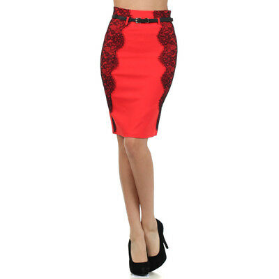 Side Lace Pensil Skirt