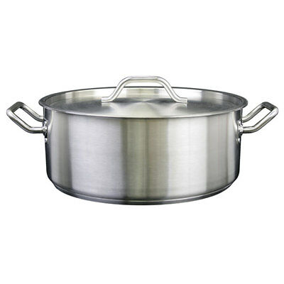 Brazier With Lid 18/8 Stainless Steel Professional Cookware Kitchen 15 qt