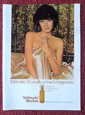 1973 Print Ad INTIMATE by Revlon Perfume Fragrance ~ Lasts As Long as You Need