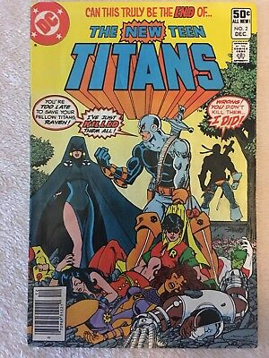 The New Teen Titans #2 (Dec 1980, DC) - First Appearance Deathstroke - VF-
