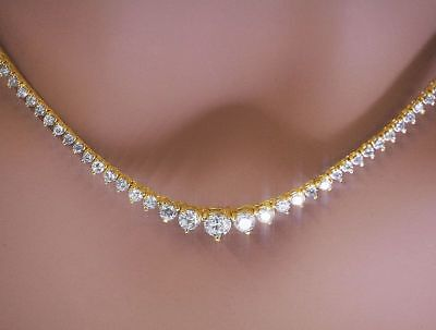 WOMEN S DIAMOND TENNIS Necklace 7.25ctw set in 14kt Yellow Gold ... f900972a9