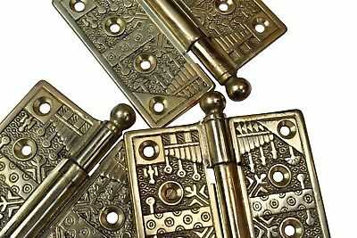 cast brass reproduction Eastlake hinges - 8 available