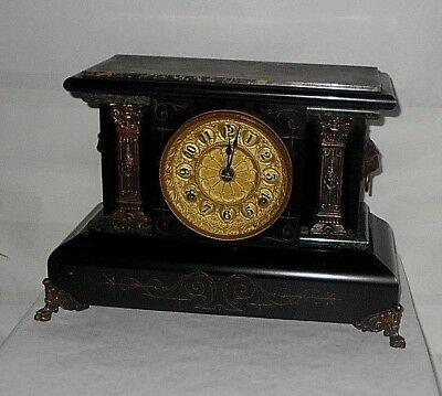 Antique Seth Thomas Adamantine NO.102 Mantle Clock~CA 1900 ~W/ KEY TESTED-WORKS