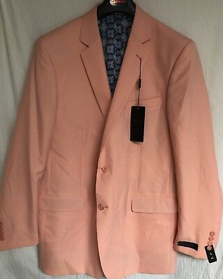 Zenbriele Men's Orange Sport Coat Blazer 42L NWT