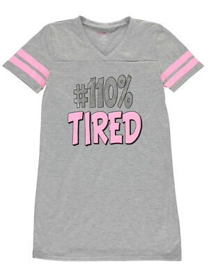 """Delia's Big Girls' """"100% Tired"""" Nightgown (Sizes 7 - 16)"""