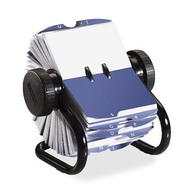 Rolodex Open Rotary Business Card File w/ 200 2-5/8 by 4 inch Card Sleeve 67236