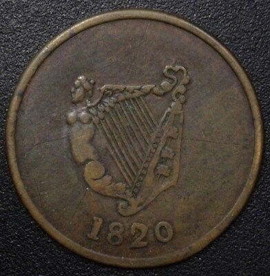 Ireland 1820 1/2 Penny Token  Ch#248  Nearly Extremely Fine