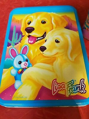Vintage Lisa Frank Collector Tin Caysey and Caymus stationary, stickers, more